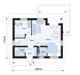 Котельцовый уютный, современный, тёплый, экономный дом.