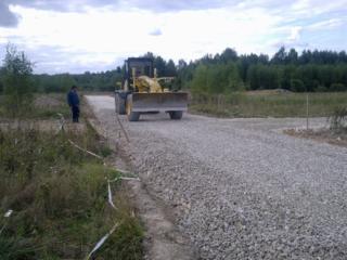 Строительство недорогих дорог. Асфальтирование Работаем зимой.
