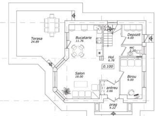 Дом котельцовый 120 м кв. Белый Вариант, 60000 евро