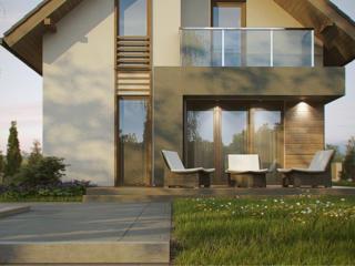 Теплый дом с мансардой Белый Вариант площадь 140 м2