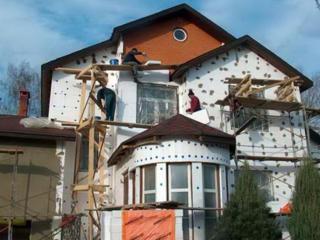 Отделка домов пенопластом.