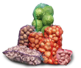 Сетка овощная 40х60 (20 кг); 45х75 (30 кг); 50х80 (40 кг), др. размеры
