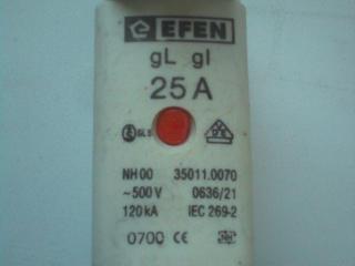 Вставки плавкие Efen 25A 4 шт