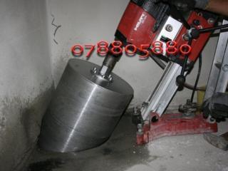 Алмазное сверление отверстий, резка бетона
