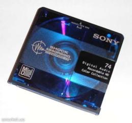 Продаю аудио MiniDisc(цифровые аудио мини-диски, перезаписываемые).