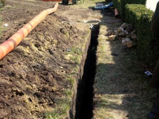 Бельцы. Прокладка труб водопровода канализации резка бетонa асфальта
