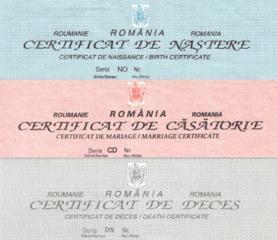 Traduceri: Certificat de naştere/căsătorie româneşti