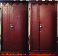 Обивка дверей, установка замков