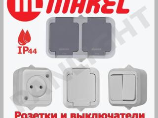 Розетки и выключатели наружные, розетки наружные, MEPA, MAKEL, LED