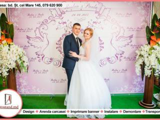 Fotopanou, fotostand, foto banner, panou foto, brandwall pentru nunta