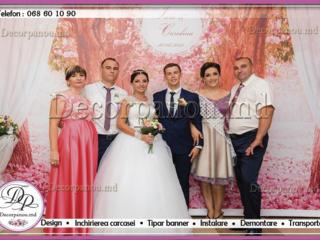 Cadou decor cu panou foto la nunta, cumetrie, zi de nastere