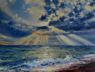 """Продаётся картина Климова О. В. """"Морской пейзаж"""""""