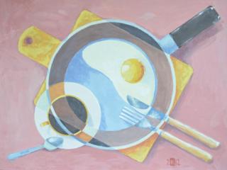 """Продаётся графическая картина """"Завтрак холостяка"""""""