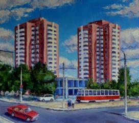"Продаётся картина Климова О. В. "" Николаев, ул. Чкалова"""