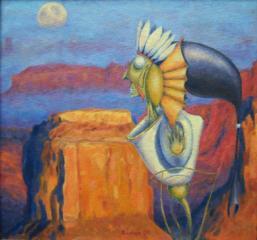 """Продаётся картина Климова О. В. """" Индейцы растут в Америке"""""""