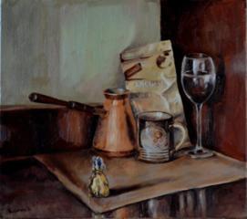 """Продаётся картина Климова О. В. """" Кофейный натюрморт"""""""