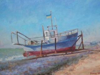 """Продаётся морской пейзаж Климова О. В. """"Рыбацкое судно Тибет"""""""
