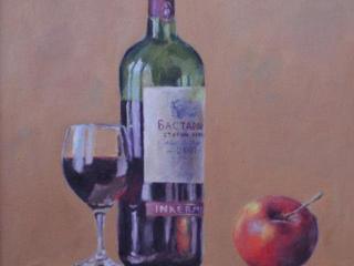 """Продаётся картина Климова О. В. """" Натюрморт с вином"""""""