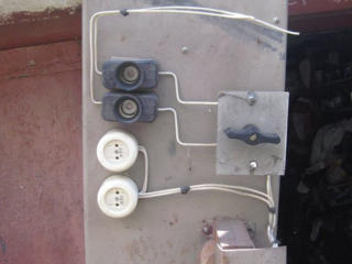 Щиток гаражный с эл. счётчиком, понижающим трансформатором 220/36v