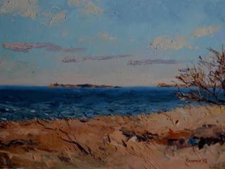 "Продаётся картина Климова О. В. "" Вид на остров Березань"""
