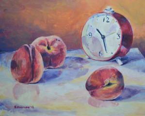 """Продаётся картина """" Натюрморт с персиками """""""