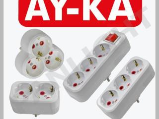 Разветвители питания, переходники электрические, Адаптеры, AY-KA, EKF