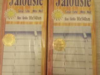 Жалюзи, 2 шт. новые в упаковке, белые (90 \ 140 см)