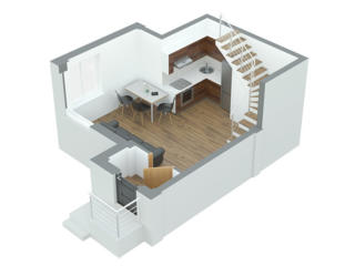 Apartament cu 1 camera 45.6 m2 Durlesti