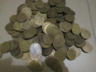 Множество монет 5 коп СССР