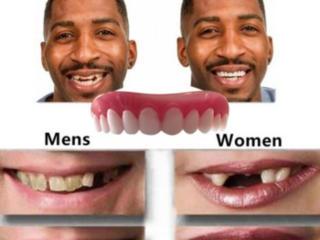 Силиконовый протез зубов, ровные белые силиконовые зубы. Для улыбки
