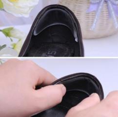 От натирания сзади пяток в обуви, прозрачная силиконовая полоска.