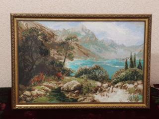 """Вышивка крестиком """"Озеро в горах"""" - продается"""