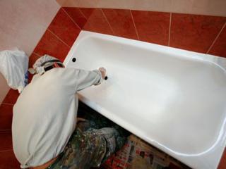 Vopsirea profesională a сazilor Покраска ванн Акрилом