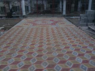 Профессиональная укладка тротуарной плитки. Вибротрамбовка
