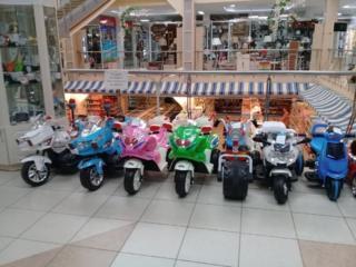 Мотоциклы, квадрациклы, машины новые на аккумуляторе!