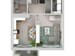 Se vinde apartament cu 1 odaie in bloc nou.