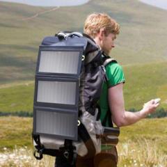 Складная солнечная панель BlitzWolf 20W для смартфонов и повербанков.