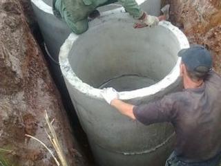 Копаем канализации сливные ямы септики водопровод траншей есть кольца!