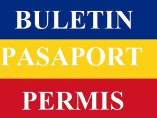 Buletin Roman, Pasaport Roman, Permis Roman, Certificat de Nastere...