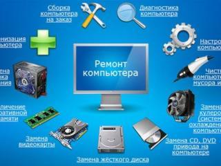 Ремонт компьютеров-чистка, установка, замена термопасты, улучшение пк...