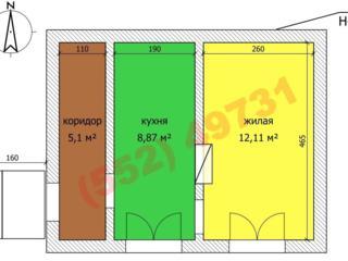 Продаётся однокомнатная квартира в Бендерах на балке