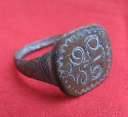 Кольцо старинное (XV век). Перстень. Геральдика. Inel vechi cu simbol.