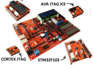 Комплект для изучения семейств микроконтроллеров MegaAVR и STM32