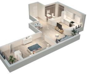 Urgent apartament cu 2 odăi, Râșcani bloc nou!!!