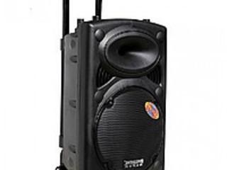Колонка-чемоданчик на колёсиках + радиомикрофон - новая в упаковке!