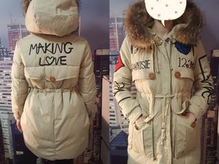 Новая куртка - парка с натур. мехом. р-р 46-48 770 руб.