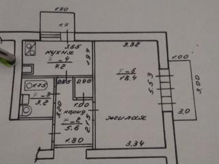 БЕНДЕРЫ ЦЕНТР 1-к кв. ЧЕШКА 3/5 36/18/7 два балкона 3 и 1,7 кв. м.