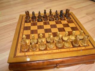 Шахматы из дуба. Идеальное состояние. Торг.