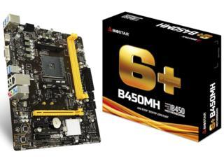 MB Biostar B450MH / Socket AM4 / AMD B450 / Dual 2xDDR4-3200 / APU AMD
