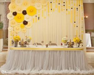 Украшение свадебных залов: 9 оттенков оформления.